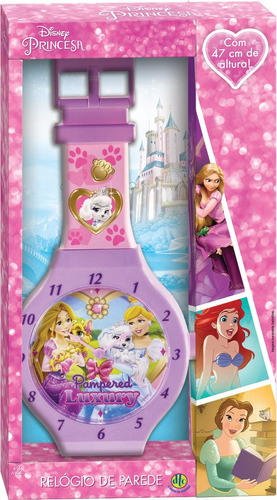 relógio de parede princesas 47cms dtc mod 1