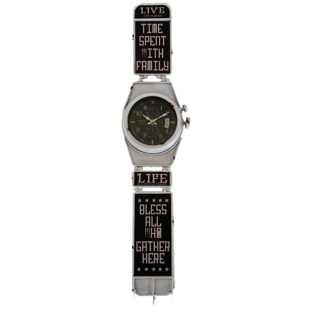 bf376626d70 relógio de parede relógio de pulso retrô branco com ganchos. Carregando  zoom.