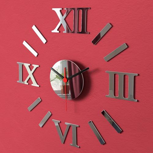 relógio de parede romano grande espelho sala cozinha monte v