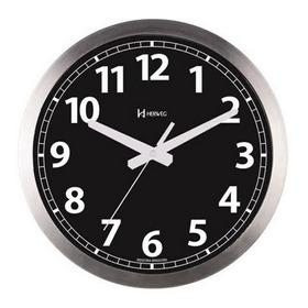 Relógio De Parede Silencioso Preto 30 Cm Alumínio Herweg P42