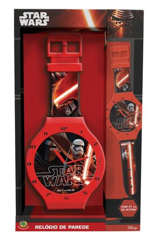 relógio de parede star wars 47cms dtc