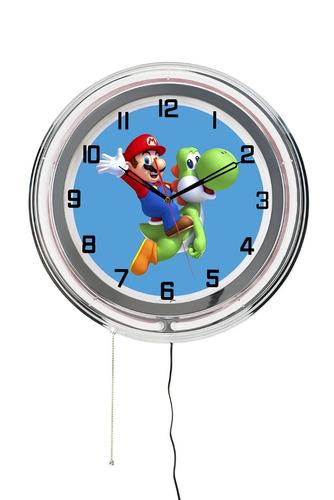 relógio de parede super mario nintendo - geek hq decor 15