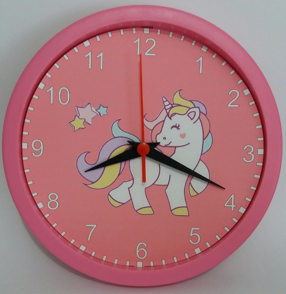 48b460f84e4 Relógio de parede unicórnio desenho infantil jpg 1169x1200 Relogio desenho