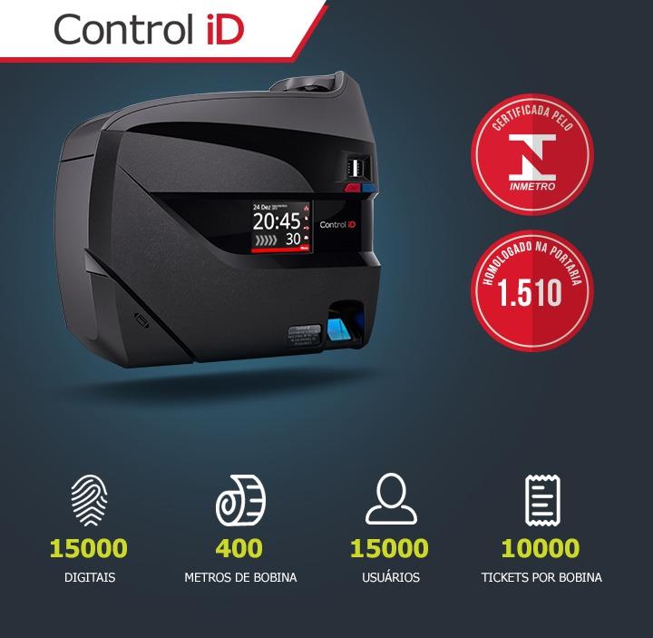 Relógio De Ponto Control Id + Software Secullum- Mensalidade - R ...
