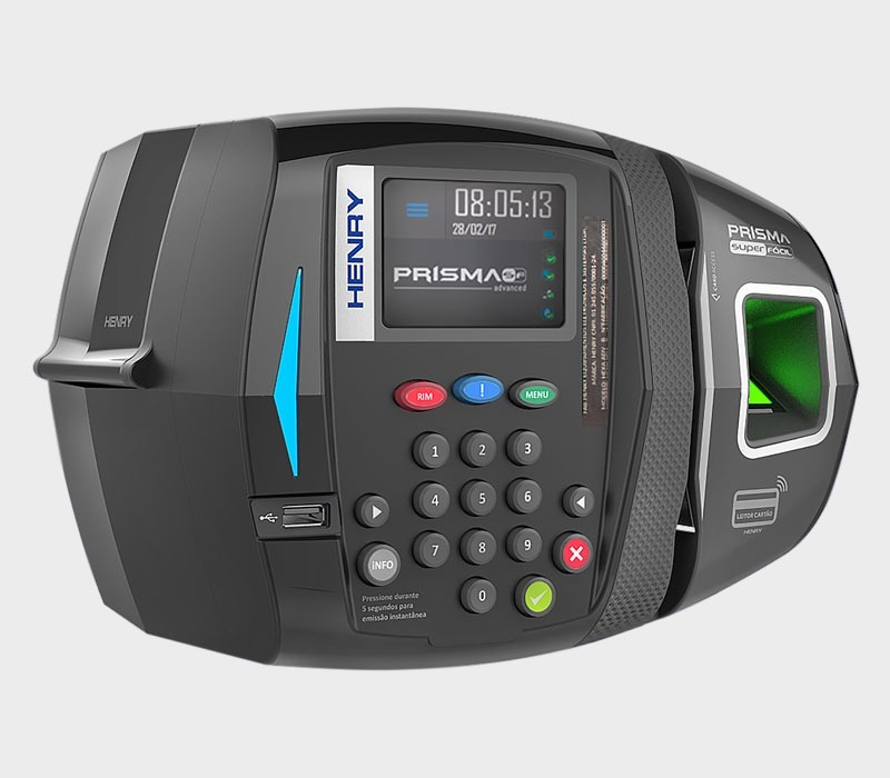 eab34e07b62 Relógio De Ponto Prisma Sf Adv R2 Biométrico - R  1.075