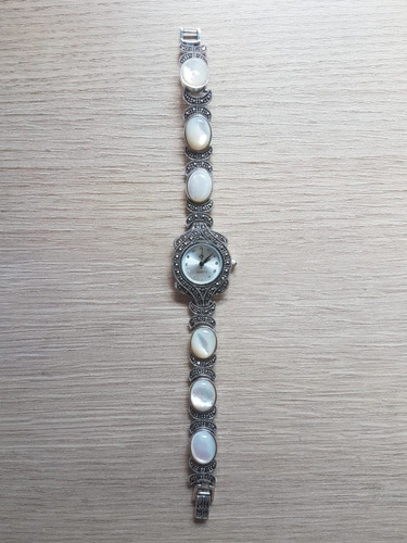 relógio de prata com pérola cultivada cod.17