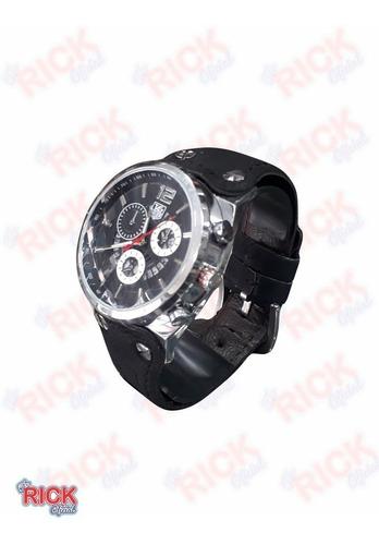 relógio de primeira linha com pulseira de couro melhor preço