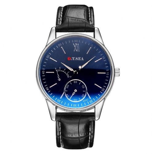 relógio de pulseira de couro sintético o.t.sea