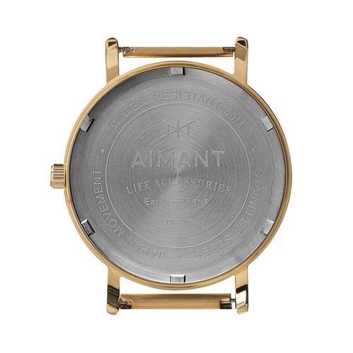 relógio de pulso aimant paris gold - lpa-200sg-7g