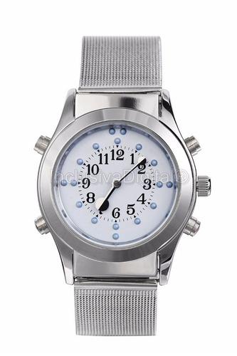 relógio de pulso analógico, braille,fala hora, em português