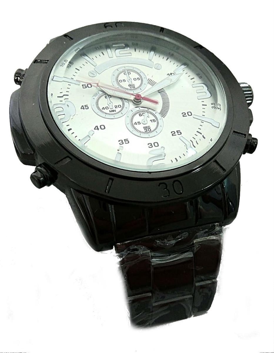 7c11c1f0768 relógio de pulso analógico preto masculino luxo esportivo. Carregando zoom.