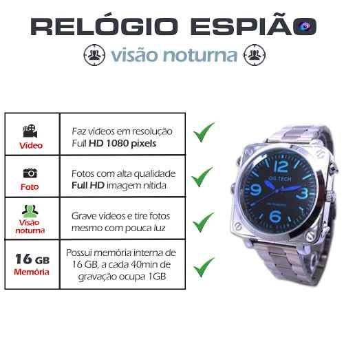 8d608e240c5 Relogio De Pulso Automatico Comprar Gravador Voz Camara - R  339