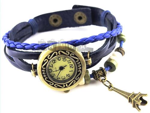 relógio de pulso bracelete vintage feminino couro pulseira