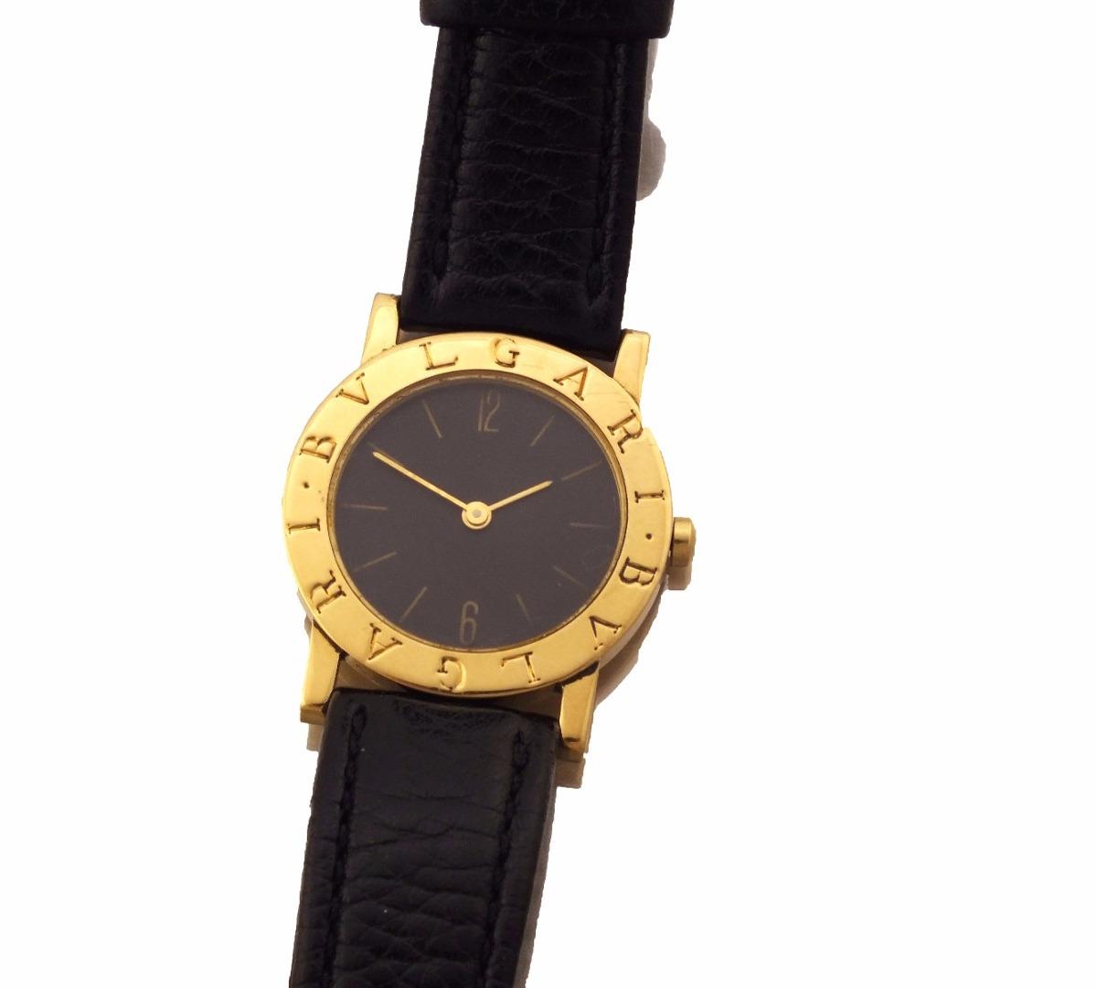 154b5d83325 relogio de pulso bvlgari em ouro 18k e pulseira couro j12631. Carregando  zoom.