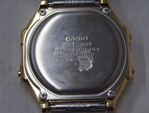 relógio de pulso casio luminescence dourado