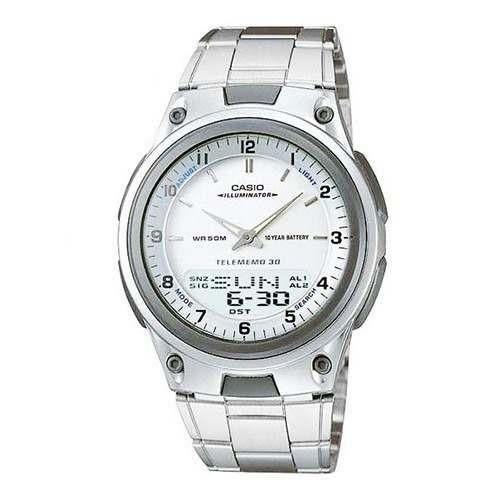 c54c52de9bd Relógio De Pulso Casio Masculino Aw-80d-7 Prata Original - R  310