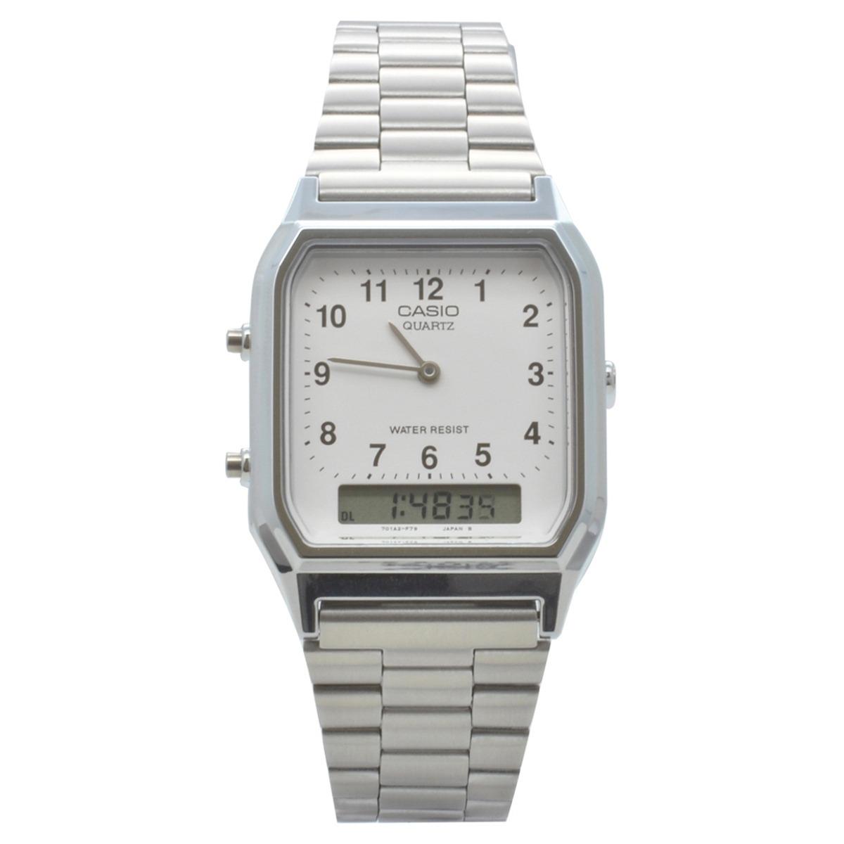 5422d08cf29 Relógio De Pulso Casio Vintage Unissex Aq-230a-7bmq - Prata - R  315 ...