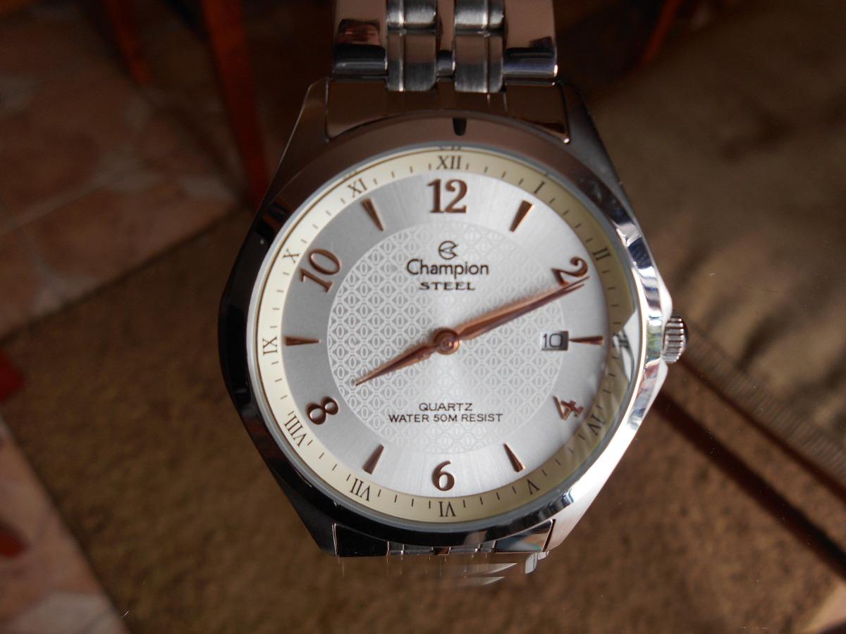 16fc53bb8c2 relógio de pulso champion steel. Carregando zoom.