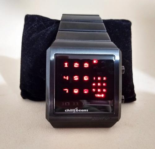 relógio de pulso chilli beans - robot 80s - seminovo