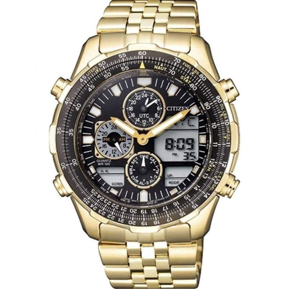 559bab820d8 relógio de pulso citizen masculino dourado grande tz10173u. Carregando zoom.