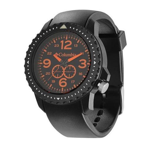 relógio de pulso columbia urbaneer - preto/laranja