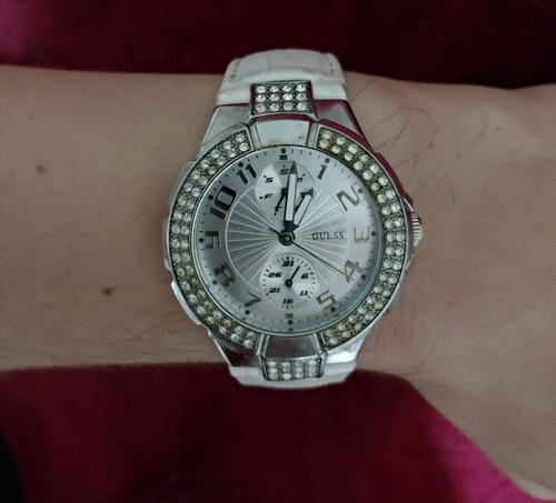 relógio de pulso com strass - guess