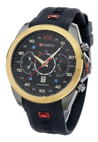 relógio de pulso curren m 8166 quartz sport masculino aço