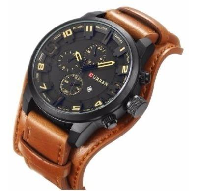 relógio de pulso curren m8225br marrom