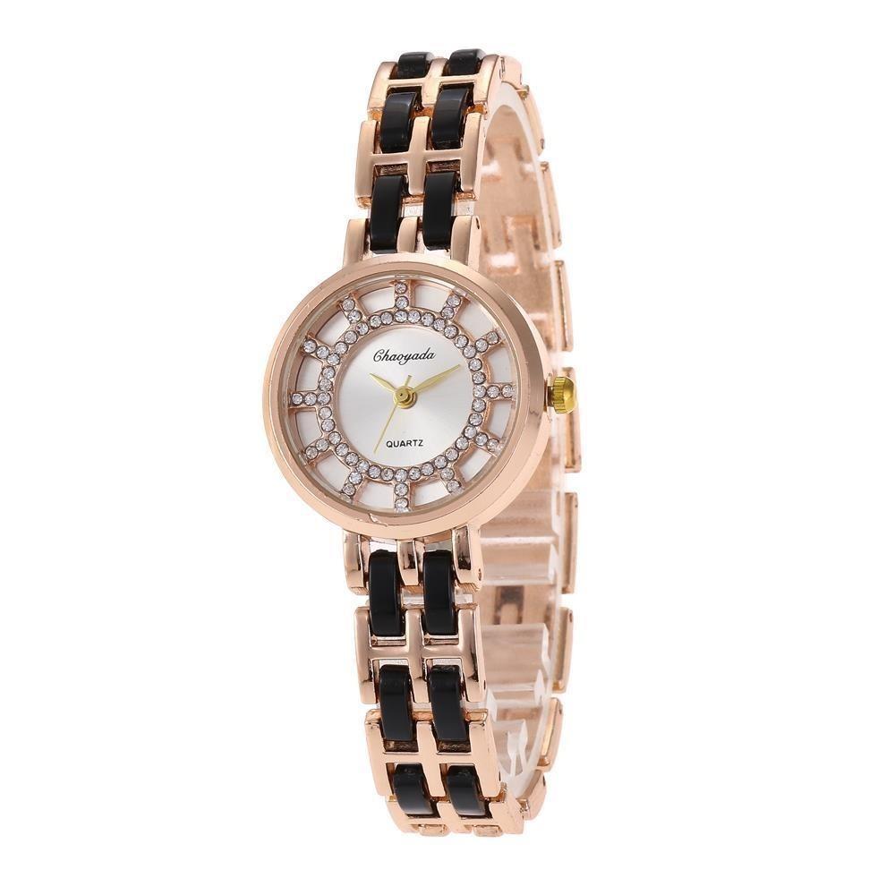 c84a89e17c3 relógio de pulso diamante moda feminina analógico quartz. Carregando zoom.