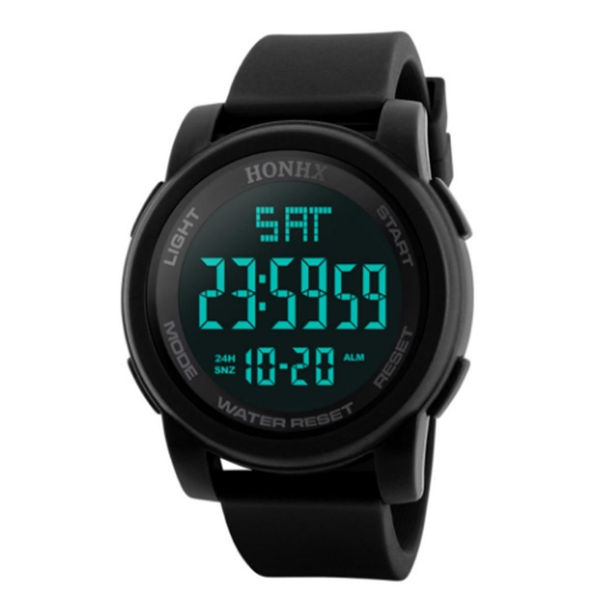 80e3c0b4446 relógio de pulso digital esportivo masculino led cronômetro. Carregando  zoom.