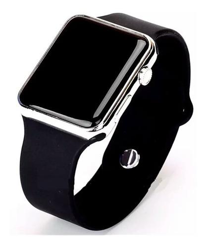 relógio de pulso digital led masculino feminino prata
