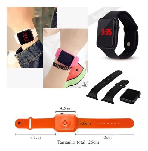 relógio de pulso digital masculino feminino hora e data