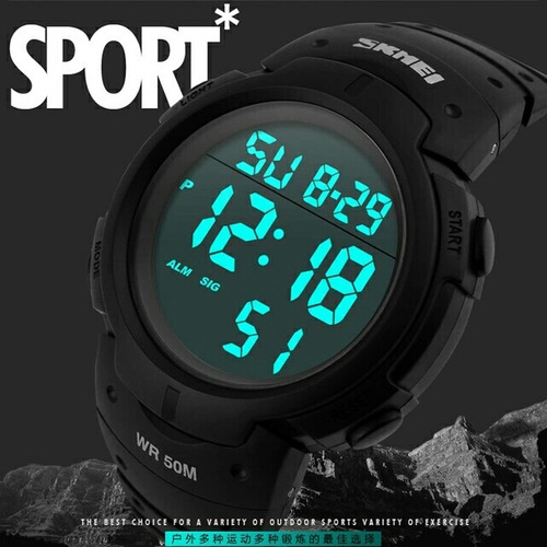 relógio de pulso digital  skmei sport mergulhoprova dágua