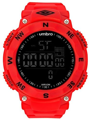 relógio de pulso digital vermelho - umbro umb-01-10