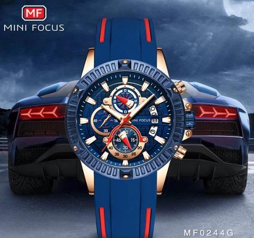 relógio de pulso dos homens de luxo minifocus original