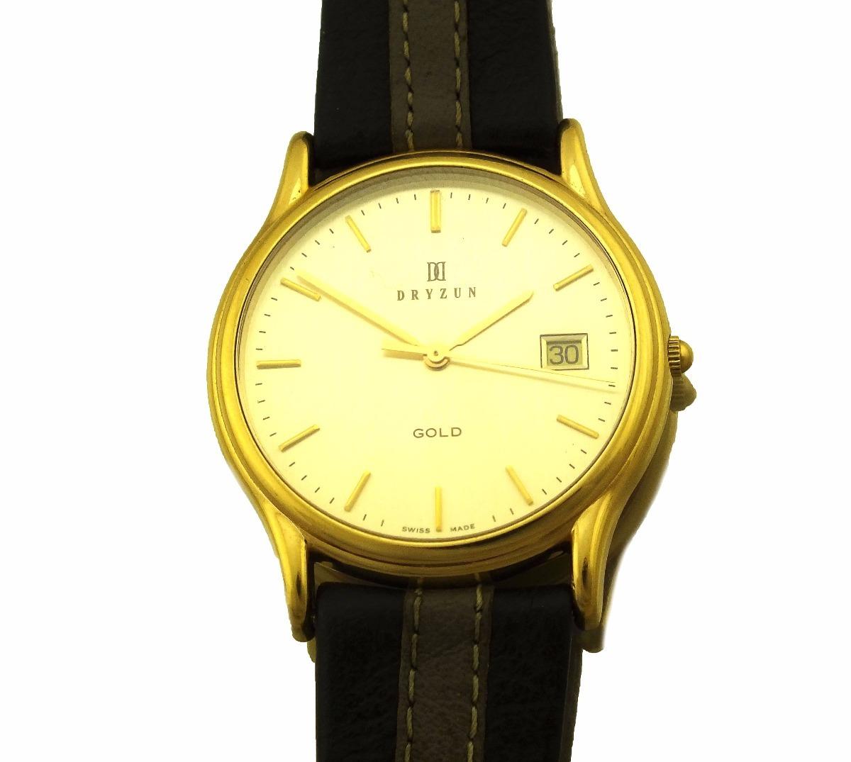 639e83335ac Relógio De Pulso Dryzun Masculino Em Ouro 18k J19999 - R  2.999