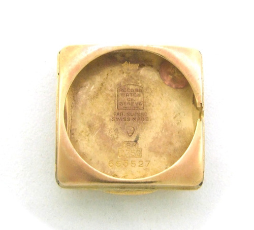 relógio de pulso electra quadrado em ouro rose 750 j8209