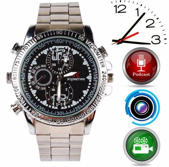 f9123130bd7 Relógio De Pulso Espião 8gb Camera Espiã Relógio Espião - R  159