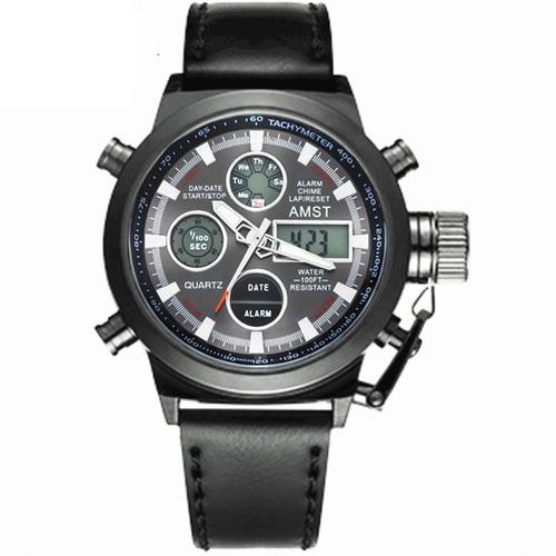 relógio de pulso esportivo quartzo masculino amst