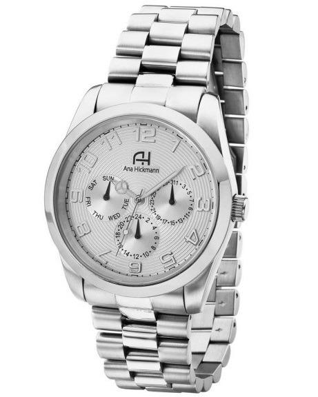 2a969a37b86 Relógio De Pulso Feminino Ana Hickmann Aço Prateado Ah30139q - R ...