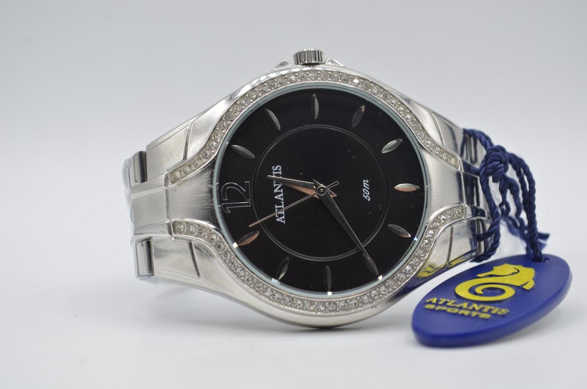 ba694a80a55 relógio de pulso feminino atlantis com strass. Carregando zoom.