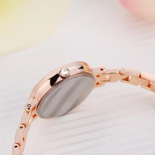 relógio de pulso feminino barato dourado