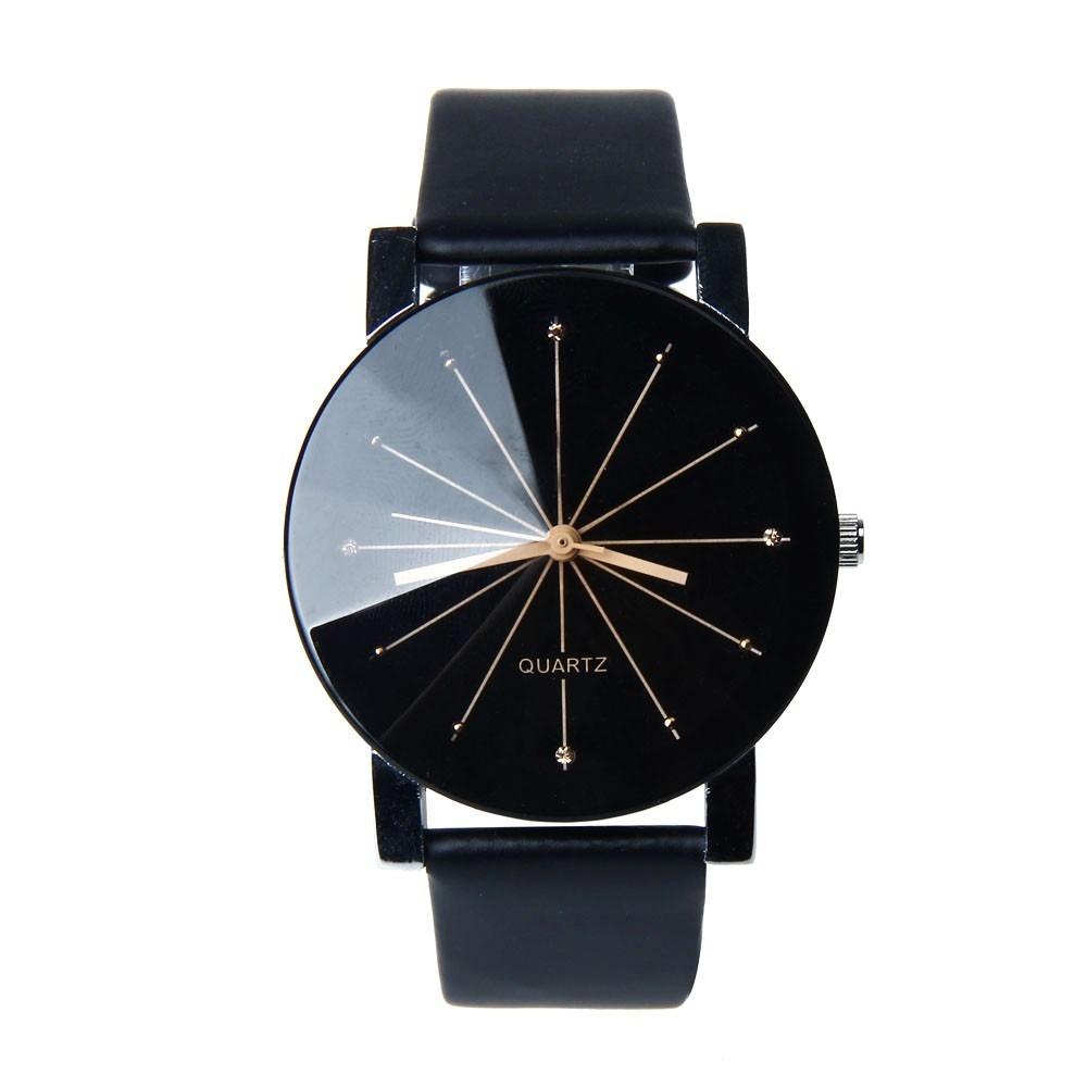 683f00f1b5f relógio de pulso feminino barato quartz pulseira couro preta. Carregando  zoom.