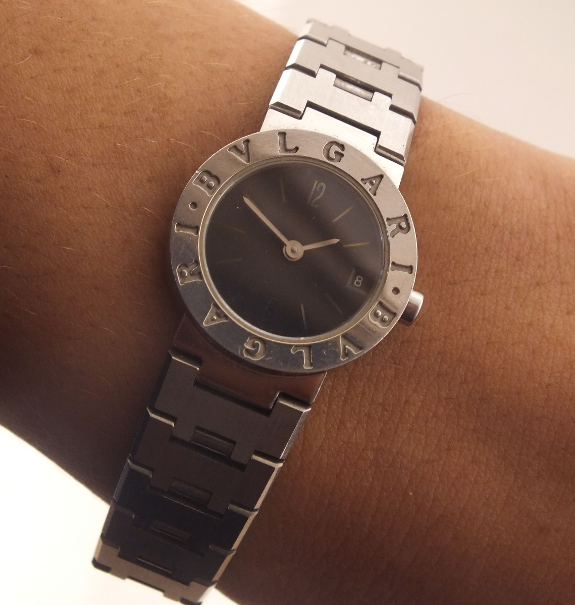 603bfdb1397 Relógio de pulso feminino bvlgari todo em aço carregando zoom jpg 1139x1200 Relogio  bvlgari feminino