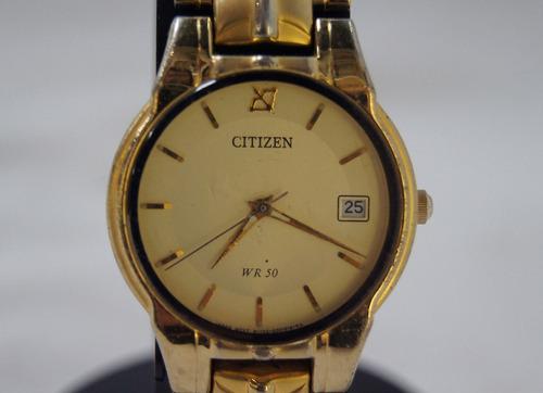 relógio de pulso feminino citizen dourado