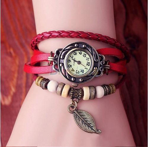 relógio de pulso feminino - da sorte folha
