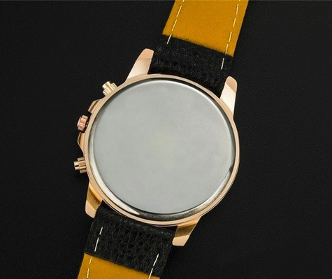 relógio de pulso feminino geneva correia de couro sintético