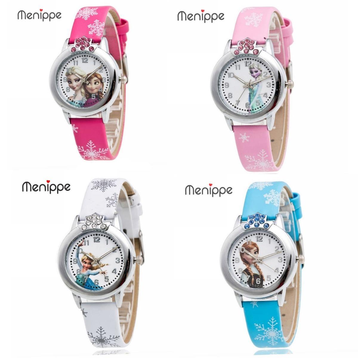 eb29ab10e72 relógio de pulso feminino infantil - princesas frozen. Carregando zoom.