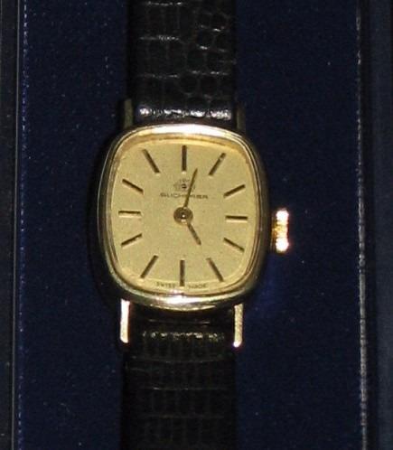 relógio de pulso feminino - ouro 14 k - bucherer - de corda