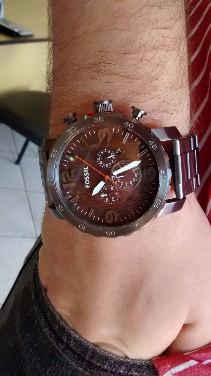 ba438d42ad4a0 relógio de pulso fossil masculino cronógrafo fjr1355 z. Carregando zoom.